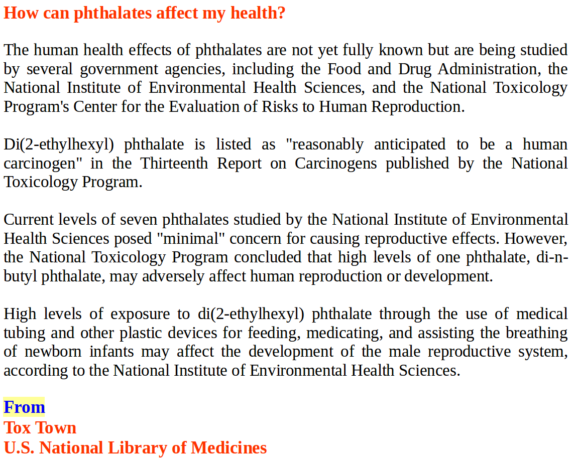 How can phthalates affect my health